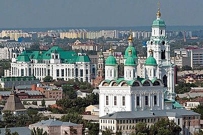 The Astrakhan city view, Russia