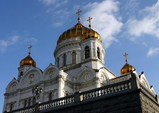 Cathedral of Christ the Saviour view, Moscow, Russia