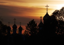 Monastery vening view, Russia