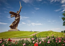 Russian monument The Motherland, Volgograd, Russia