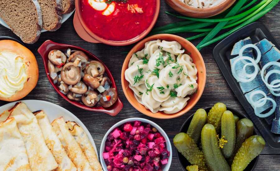 Different periods in history of Russian cuisine