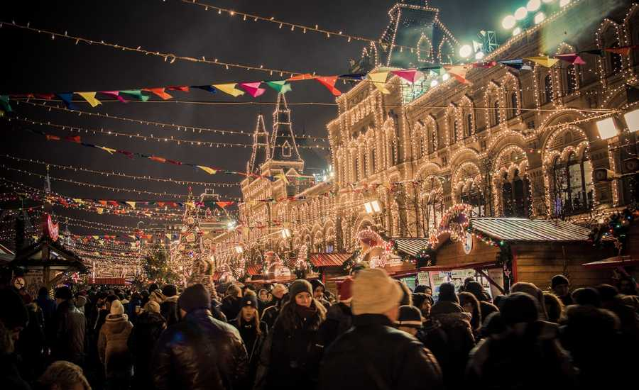 Christmas markets in Moscow