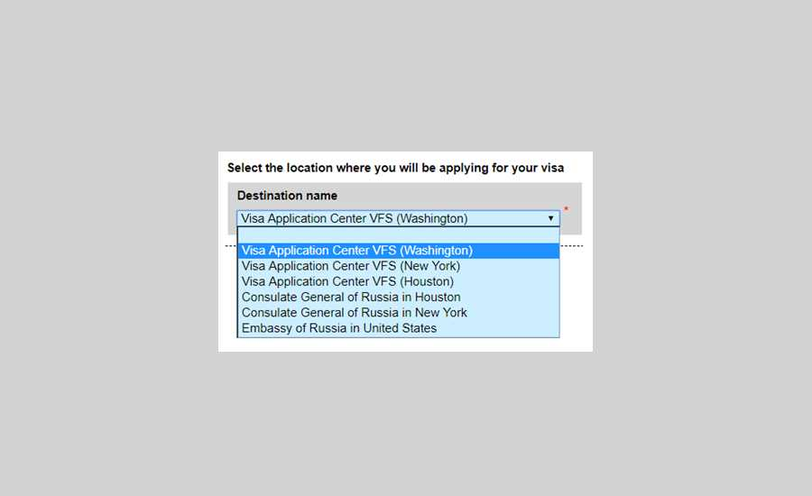 Applying for a Russian Visa in the USA - choosing the consulate