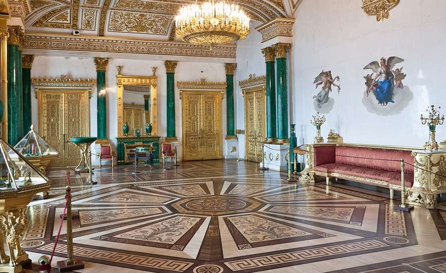 The Malachite Room at the Hermitage