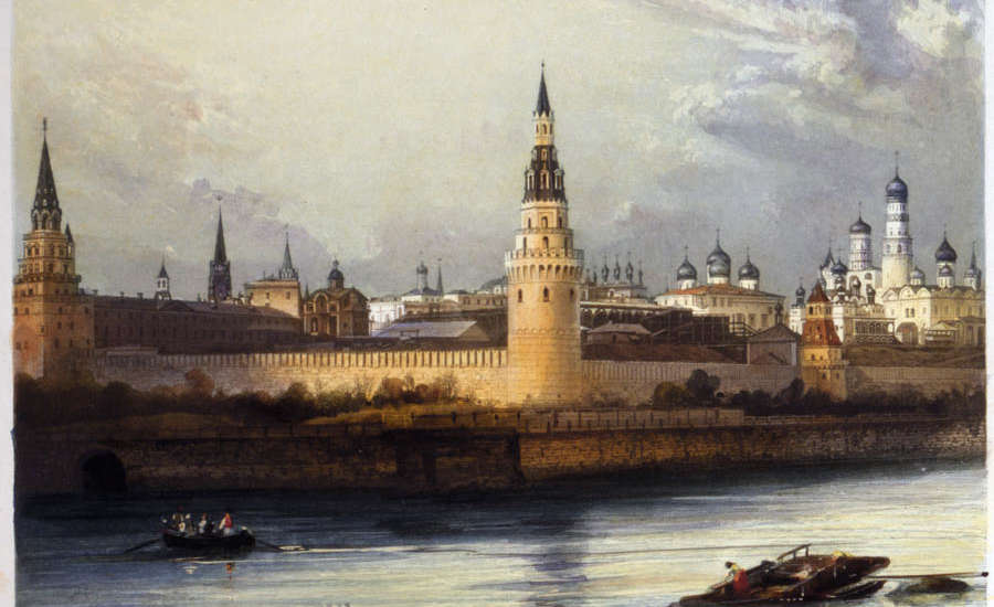 Moscow Kremlin During Imperial Russia