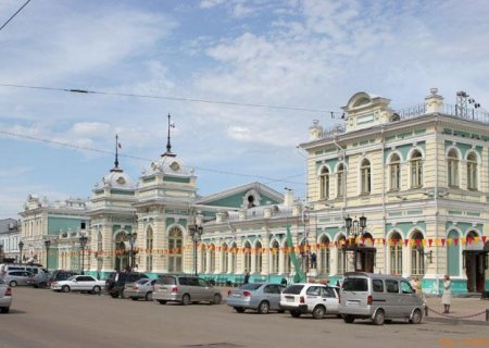 The Irkutsk Railway station, Russia