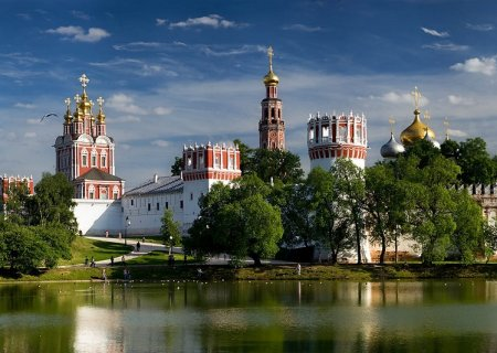 Novodevichy convent view, Moscow, Russia