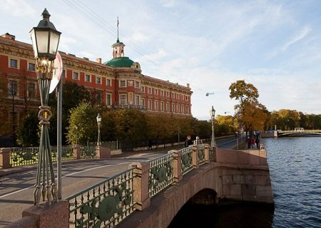Neva River embankment, St Petersburg, Russia