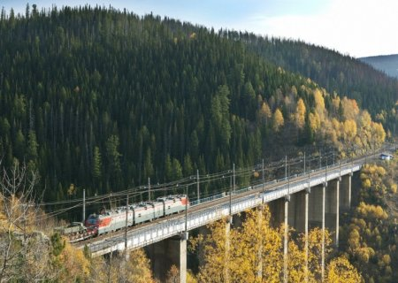 Russian railway bridge