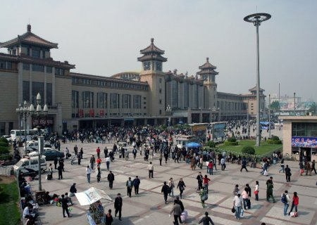 Beijing railway station, China