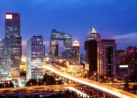 Beijing city night view, China