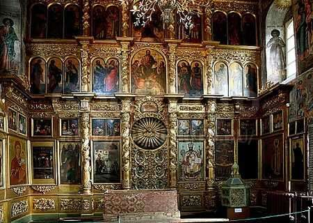 Iconostasis at thу Church of Tsarevich Dmitry on the Blood, Uglich, Russia