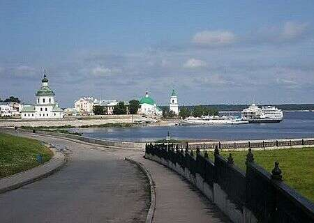 Volga River view in Cheboksary, Russia