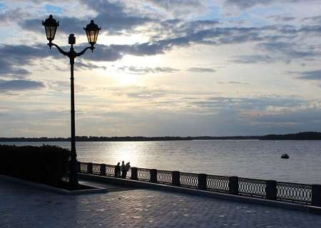 Volga river view in Samara, Russia