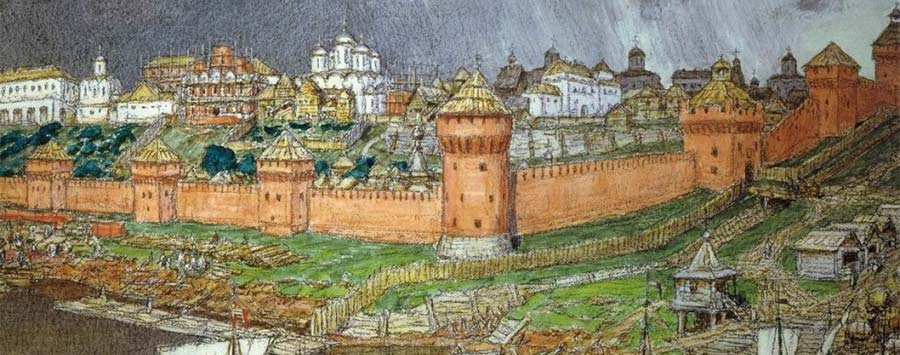 Moscow Kremlin in the times of Ivan III